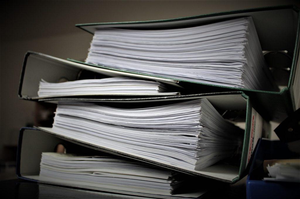 Arquivos de documentos